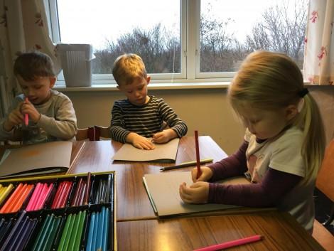 Tegning i Børnehus